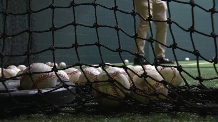 Baseballs generic batting cage