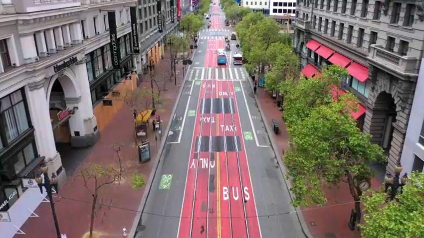 Market Street in San Francisco.