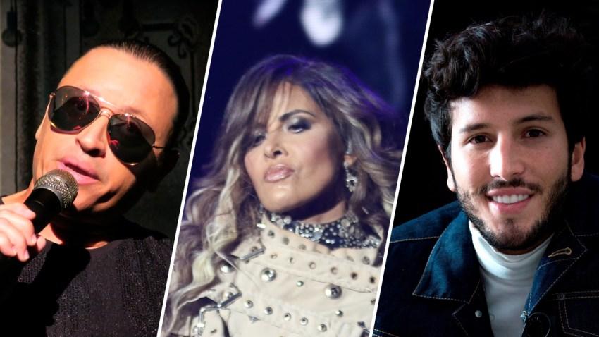 Elvis Crespo, Gloria Trevi y Sebastian Yatra.