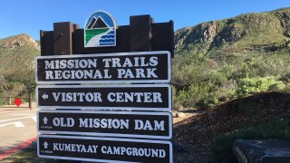 The sign at the entrance at Mission Trails Regional Park