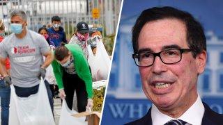 El secretario del Tesoro de EEUU, Steven Mnuchin, dice para cuándo cree que se recuperará la economía.