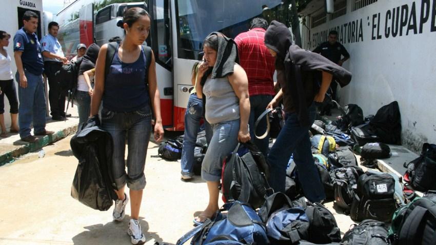 Migrantes detenidos en Chiapas.
