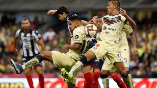 Final del campeonato mexicano de fútbol entre América y Monterrey.