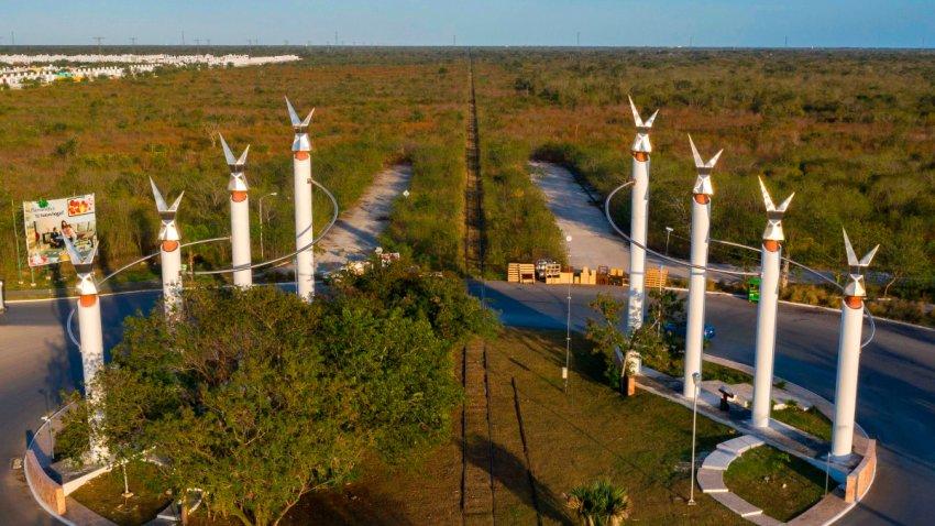 Vista parcial de Mérida donde estará una estación del Tren Maya