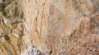 Pinturas rupestres en Oaxaca