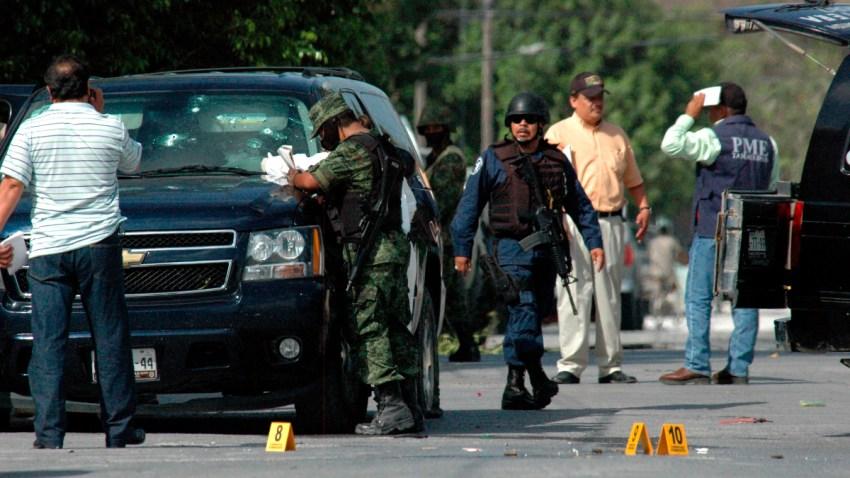 Escena de enfrentamiento en Tamaulipas