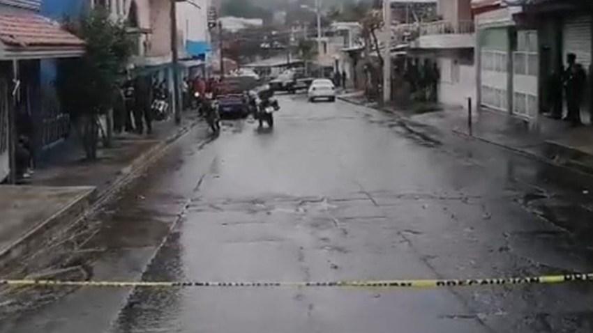 Policía resguarda zona de crimen en Uruapan