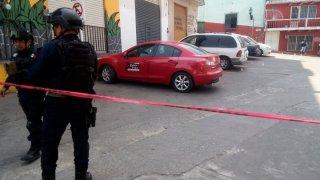 Escena del ataque a balazos a periodista