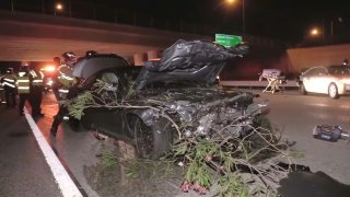 A suspected DUI crash on Highway 85 in San Jose