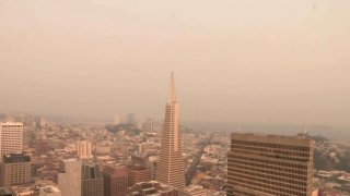 Poor air quality in San Francisco.