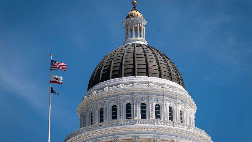 The California State Capital building stands in Sacramento, California, U.S., on Tuesday, April 14, 2020.