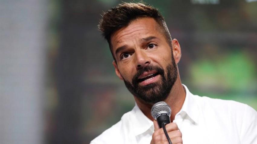 En la imagen, el cantante puertorriqueño, Ricky Martin
