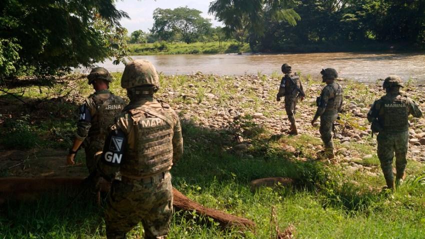 Personal naval en la frontera sur de México