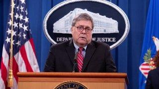 El fiscal general de Estados Unidos, William Barr, dejará su cargo el próximo 23 de diciembre.