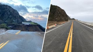 A before and after look at a stretch of Highway 1 in the Big Sur area.
