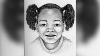 A rendering by a forensic sketch artist showing what Arianna Fitts may look like now at 7 years old.