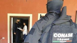 Fotografía del operativo de captura del exgobernador de Nayarit
