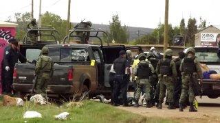 Un grupo de militares en Zacatecas, donde mataron al menos a 18 personas