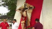 Llega a la Bahía una venerada imagen religiosa traída hasta aquí en una peregrinación desde Jalisco, México.