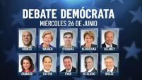 En exclusiva: por Telemundo, así se afinan los últimos detalles del primer debate demócrata en Miami.