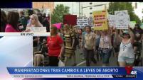 Activistas protestaron en varias ciudades del Área de la Bahía a favor del aborto luego de la aprobación de varias leyes en contra del...