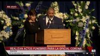 Alrededor de 6,000 oficiales de todo el país asistan a los servicios fúnebres.