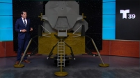 Alexis Orengo, meteorólogo de Telemundo 39, explica la forma en que aterrizó el Apolo 11 y sus características.