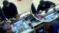 El sospechoso salió corriendo atemorizado tras un intento de robo en una tienda minutos después de la medianoche.