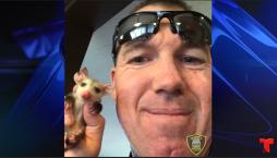 """Policía conmovido en """"arresto"""" de animalito huérfano, mira lo que hizo después"""