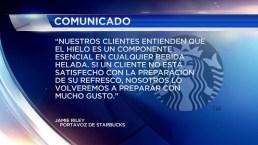 Demanda contra Starbucks por hielo en sus bebidas