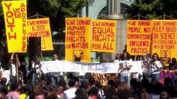 La Bahía protesta por cambio climático