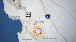 Se registra temblor de 3.4 en Hollister