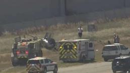 Un muerto en desplome de helicóptero
