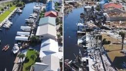 Antes y después: la zona devastada por el huracán Michael