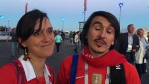 Chilenos, de la fiesta al dolor tras la derrota ante Alemania