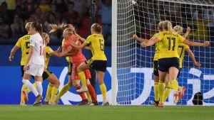 1-0. Suecia le gana a Canadá y pasa a cuartos de final