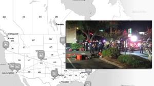 Mapa: Tiroteos masivos en EEUU