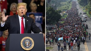 Trump: habría terroristas y pandilleros en la caravana