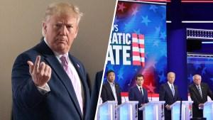 Desde Japón, Trump critica a los demócratas en el debate
