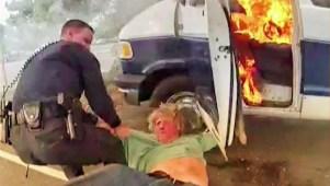 Salvan a hombre de morir quemado en San José