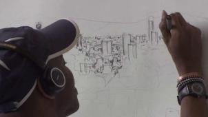 El artista con autismo que retrata ciudades de memoria