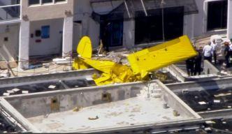 Avioneta se estrella contra edificio en Fort Lauderdale