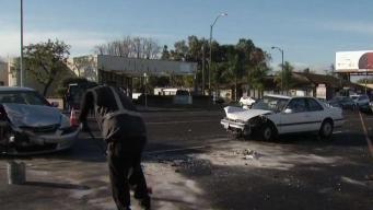 Accidente provoca cierre de calles en Santa Clara