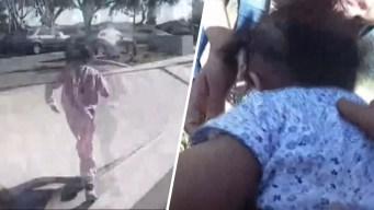 En video: policía le salva la vida a bebé de 10 meses