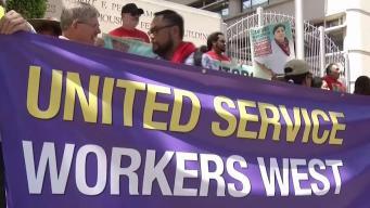 Empleados de mantenimiento protestan en San José