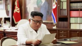 """Kim dice que recibió una """"excelente"""" carta de Trump"""