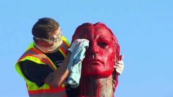 Restauran estatua de Cristóbal Colón en San Francisco