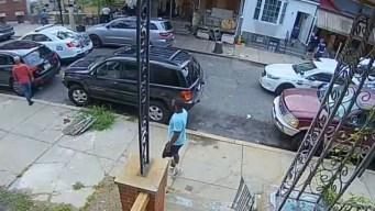 Cámara capta momento en que inicia balacera en Filadelfia