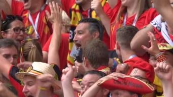 Meunier inauguró la fiesta de Bélgica
