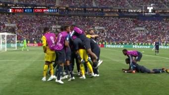 Kylian Mbappe marca un golazo y Francia golea a Croacia